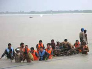 Victims rescued by Nepal Police & Army in Sunsari Nepal